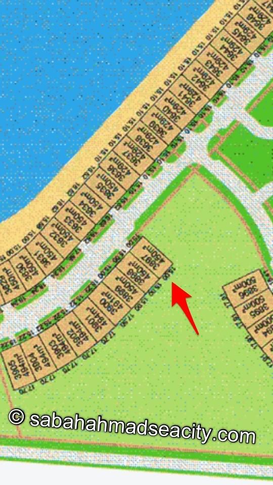 ارض صف ثاني في مدينة صباح الاحمد البحرية