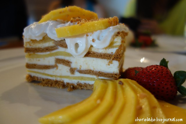 mango float cake, dessert