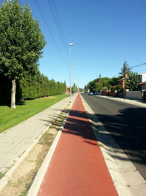 Carril Bici en Las Matas, Av Peñascales