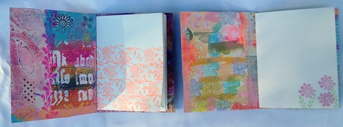 Small Art Journal Series - Inside Pages Stamped