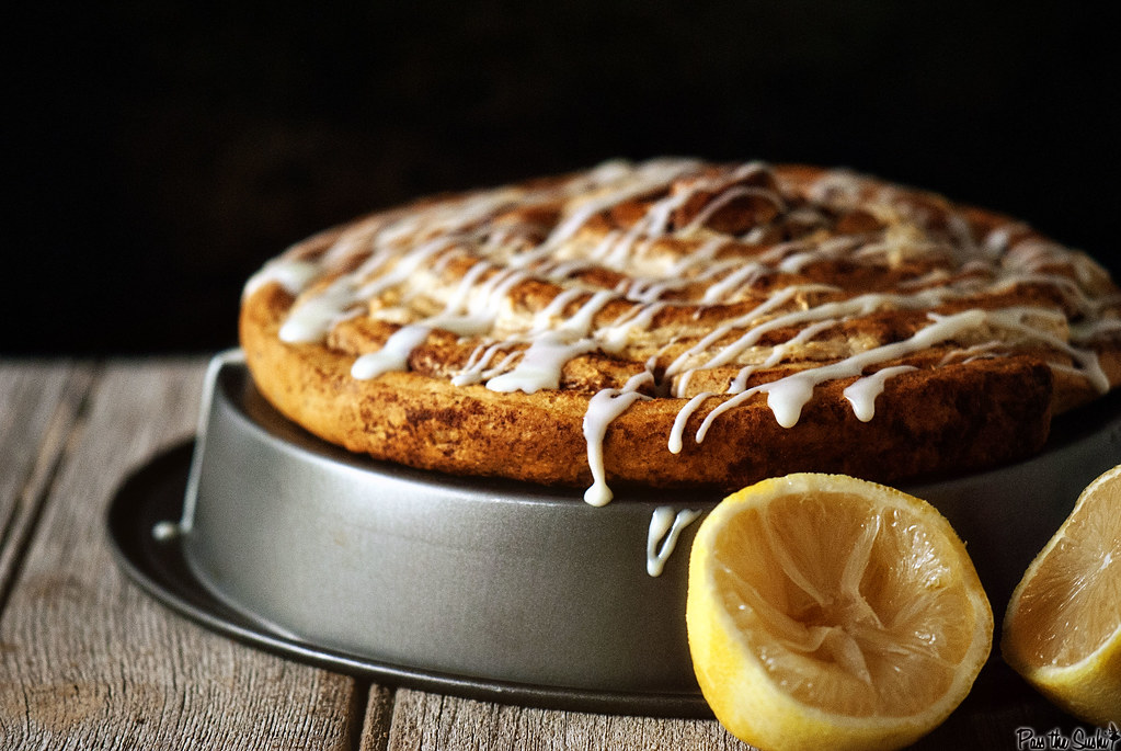 Lemon Cheesecake Coffee Cake from PasstheSushi.com
