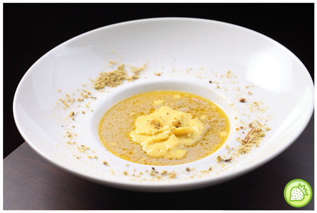 Creamy Foie Gras Soup with Sweet Corn Espuma