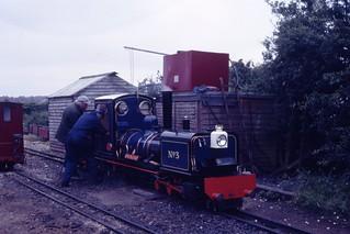 Neil Simkins 2-6-0+0-6-2 Garratt No. 3 'Norfolk Hero' (1986) Wells & Walsingham Railway, Wells-next-the-Sea, Norfolk 27.6.1988 Scans661