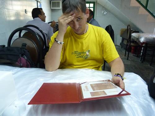En un restaurante de Irán
