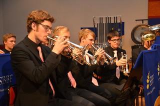 Brassbandfestivalen 2012 - SYBB:s solokornetter: Gustav Stenseke, Per Engström, Daniel Björnell och Jonatan Jennesjö