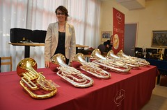 Brassbandfestivalen 2012 - Sophie Rolland visar Bessons sortiment