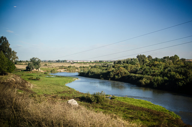 The Guadalquivir River snakes its way from Cordoba to Sevilla.