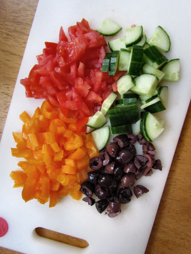 Veggies for Greek Yogurt Chopped Salad