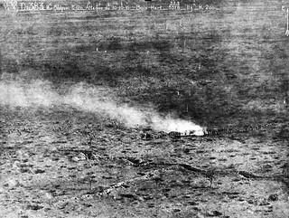 Bataille de la Somme (France)- Vue Aerienne - Bois de Hart le 10.10.1916 à 11h - Photo Sautour