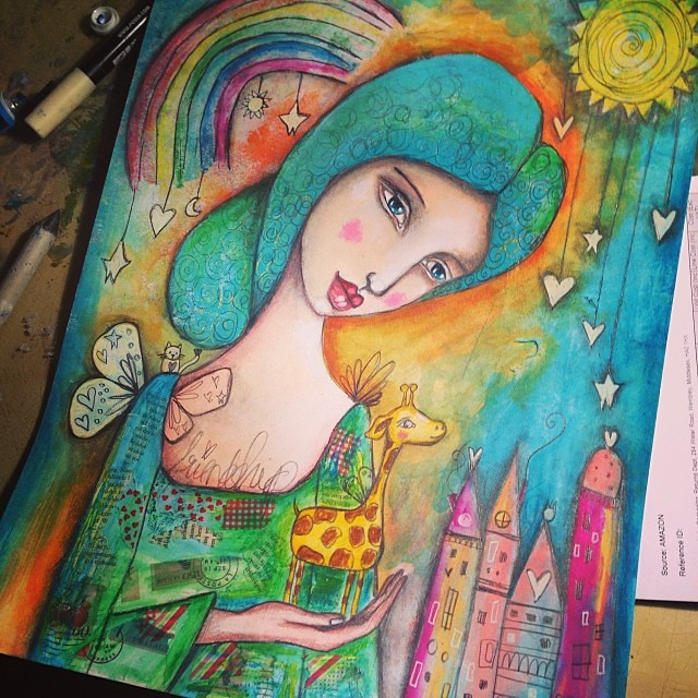 Almost finished with this one too now. Am so loving creating these semi surreal magical worlds :)