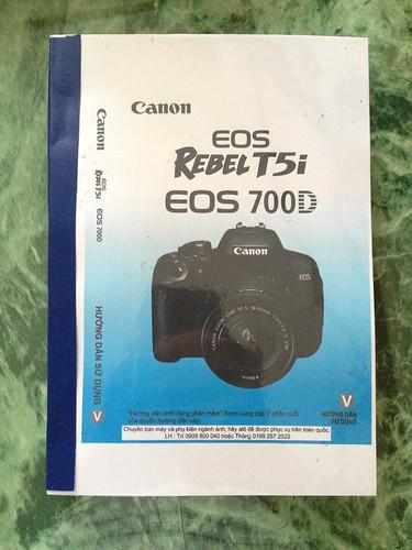 Hướng dẫn sử dụng tiếng việt máy ảnh Canon EOS 700D - 180 000đ