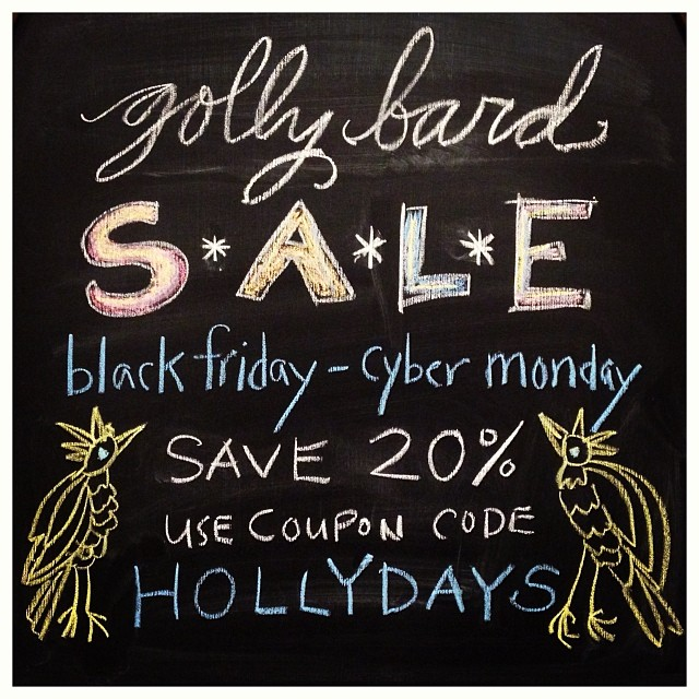 Deck your walls! Tis the season! #blackfriday #cybermonday #boughsofholly #gollybard