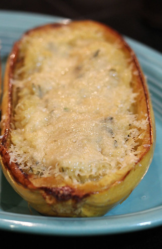 Spaghetti Squash Served with Parmesan