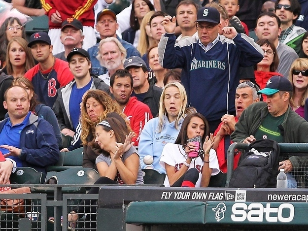 The perfectly timed foul ball picture: