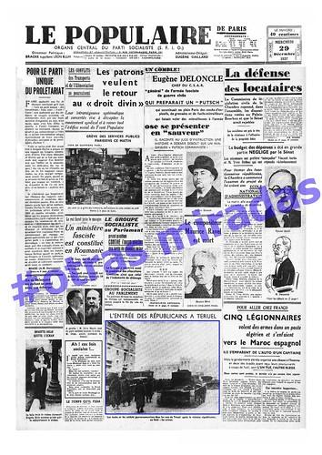 «Le Populaire», órgano del PS francés, 29 de diciembre de 1937, la toma de Teruel. by Octavi Centelles