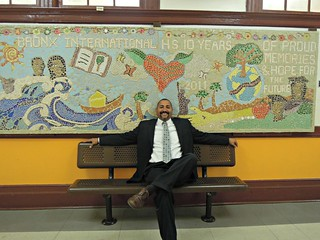 Joaquin Vega, principal Bronx International High School