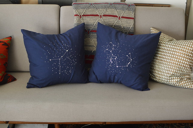 constellation pillows
