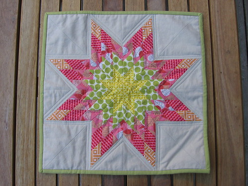 Needle and Spatula: Lone Star Mini Quilt and mini-tutorial