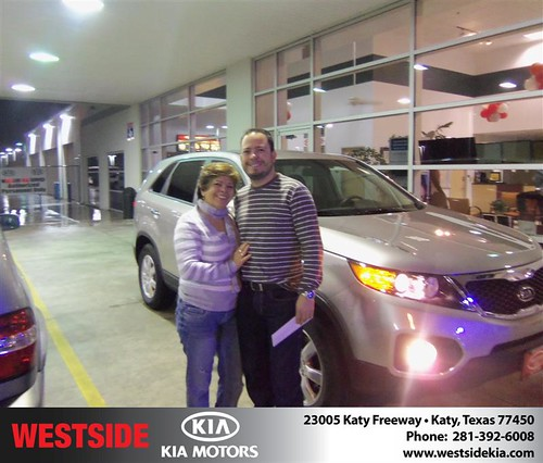 Happy Anniversary to Maria I Quintero Cerillo on your 2013 #Kia #Sorento from Suliveras Wilfredo and everyone at Westside Kia! #Anniversary by Westside KIA