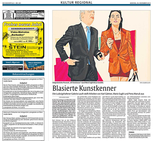 nerosunero reviewed by Die Rheinpfalz Newspaper by nerosunero