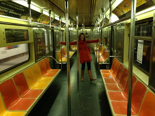 Subway car to ourselves!
