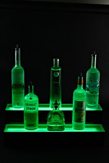 2 Step Multicolored LED Bottle Display - Armana Productions, LLC