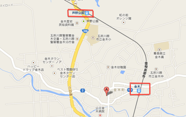金木 map