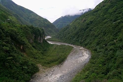travel southamerica nature landscape ecuador baños bañosdeaguasanta pastazariver westernamazonbasin