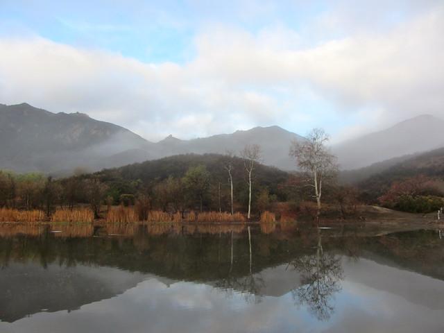 post-rain lake