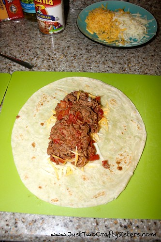 Easy shredded beef chimichangas recipe
