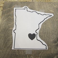 Iron Craft '14 Challenge 4 - Minnesota Love String Art
