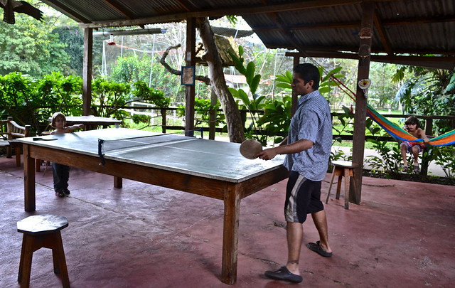 finca ixobel - family fun - ping pong
