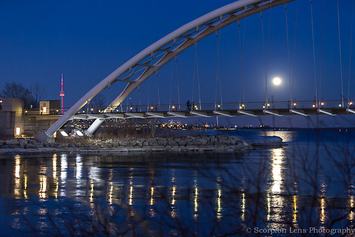 Blue Hour @ Humber Bay Arch Bridge last night