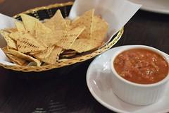Jalapeño: Corn chips and tomato salsa