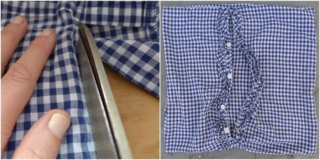 De camisa para capa de almofada