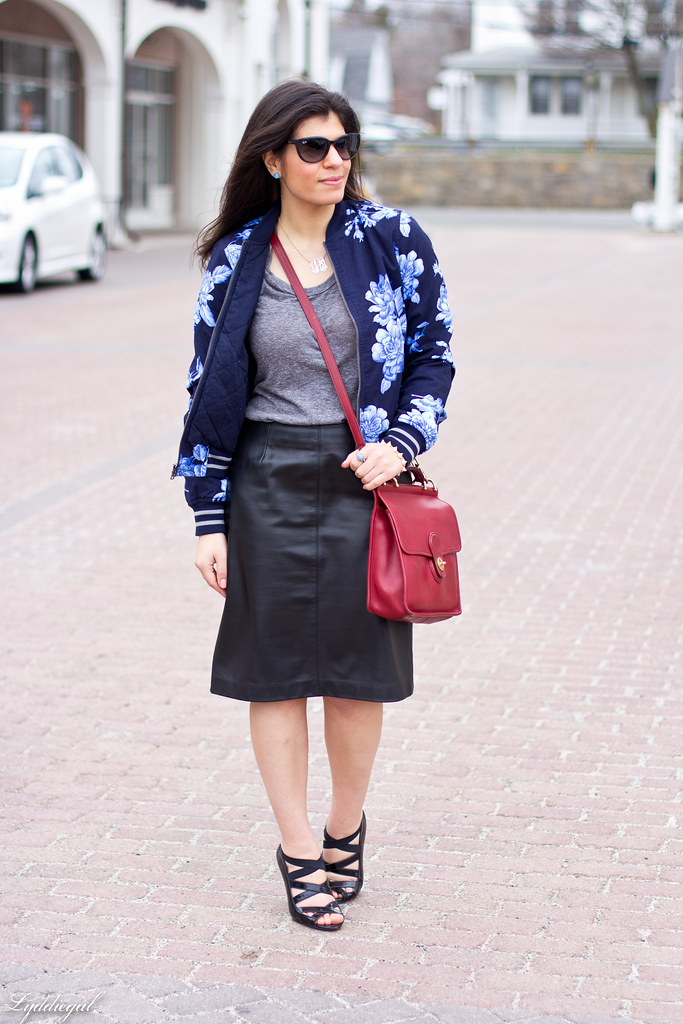 floral bomber, leather pencil skirt-1.jpg