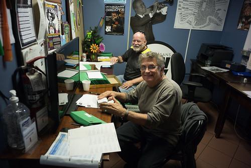 John Caulkins and Dennis Raymond handling the mail. Photo by Ken Maldonado.