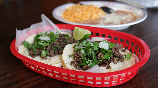 Steak Tacos Combination from Antojitos Mexicanos DF in Des Moines, Iowa