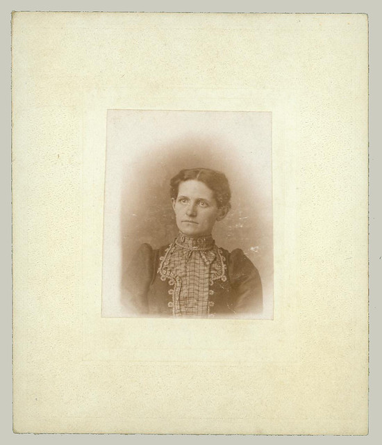 Small mounted portrait of a woman