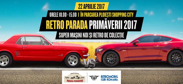 Paradă mașinilor retro sosește la Ploiești Shopping City
