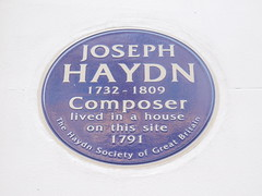 Photo of Joseph Haydn blue plaque