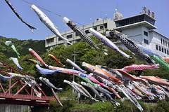 川上峡の春祭り Spring festival at Kawakamikyo
