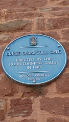 Photo of Copse Cross Toll Gate blue plaque