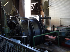 Bendigo. Central Deborah Gold Mine. Huge cables that control the underground lift baskets.
