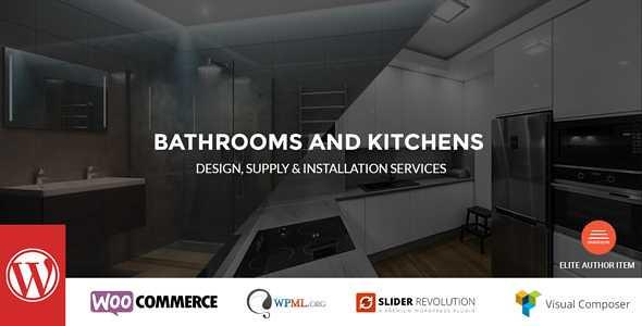 Bathrooms And Kitchens WordPress Theme free download