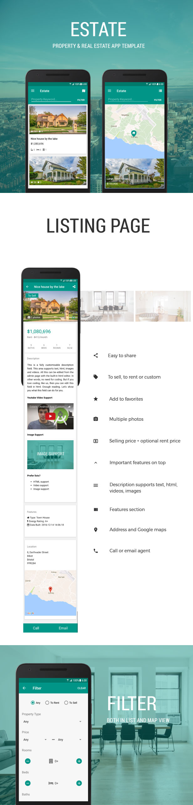 Estate - A Property Real Estate App Template Download