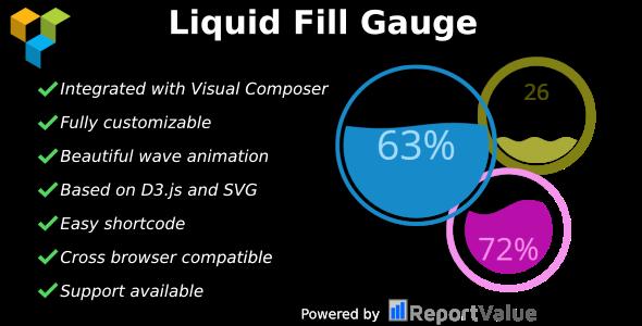 Liquid Fill Gauge v1.0 - Visual Composer Ready