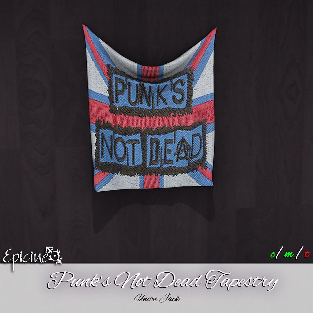 Epicine - Punks Not Dead Tapestry [Union Jack] - SecondLifeHub.com