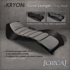 @ GENRE ~ [CIRCA] - :KRYON: Curve Lounger - Grey Black