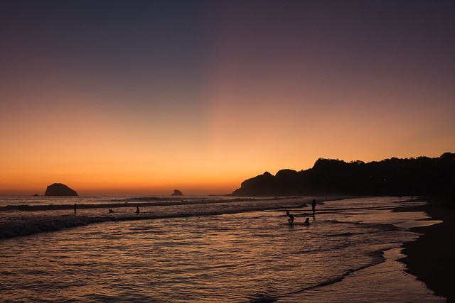 Mazunte Zipolite Beach sunset Mexico-3